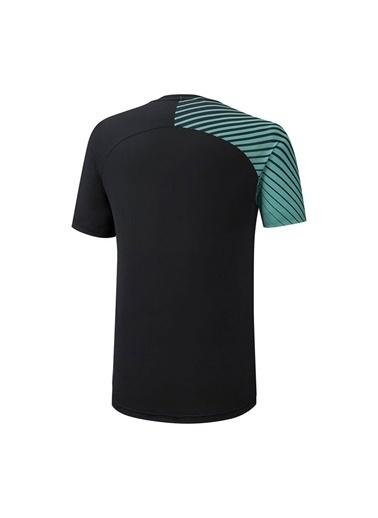Mizuno Shadow Graphic Tee Erkek T-shirt Siyah/Yeşil Siyah